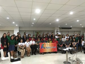 The members of the Coop team are shown here with officers and personnel of the Bank of the Philippine Islands branch office in Legazpi City during their visit there as part of the Coop's ongoing familiarization activities in the provinces.